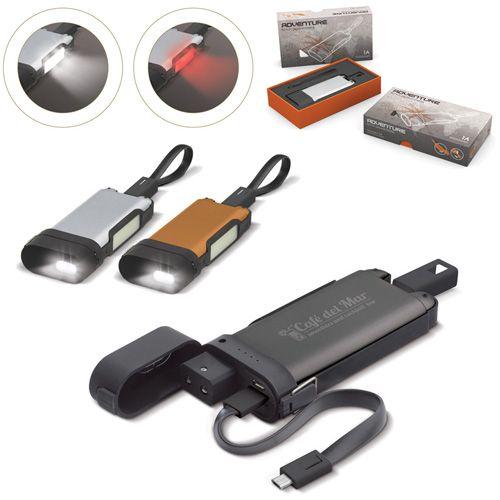Chargeur de Batterie 5000 mah avec lampe de poche intégré AC Créations Strasbourg Alsace