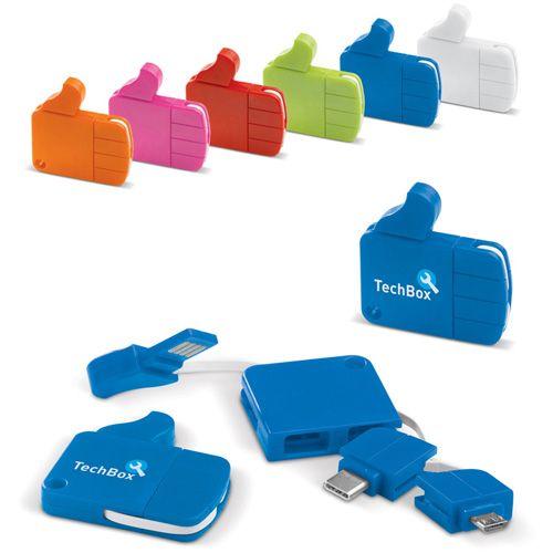 Multicâble USB LIKE CONNECT pourra rechargez votre téléphone portable avec ce multicâbles publicitaire AC Créations Strasbourg Alsace