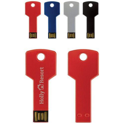 Clé USB en forme de clé, en aluminium de 8GB publicitaire AC Créations Strasbourg Alsace