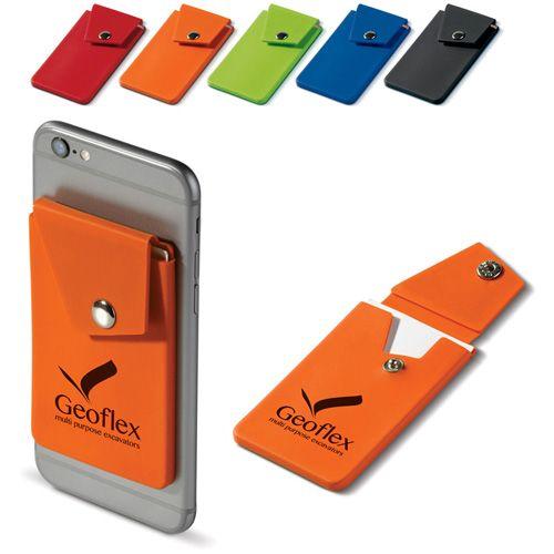 Porte carte en silicones se fixer l'arrière de votre téléphones, adaptés a de nombreuse carte et se ferme d'un bouton pression publicitaire AC Créations Strasbourg Alsace
