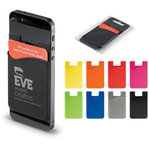 Porte carte en silicones pouvant être attacher au dos de votre smartphone publicitaire AC Créations Strasbourg Alsace