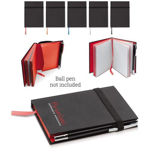 Carnet A6 avec 80 pages blanches lignées et boucle élastique pour stylo publicitaire AC Créations Strasbourg Alsace