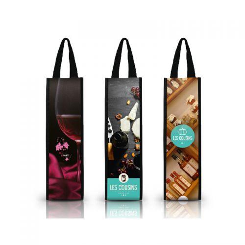 Sac a bouteille de vin personnalisable publicitaire AC Créations Strasbourg Alsace