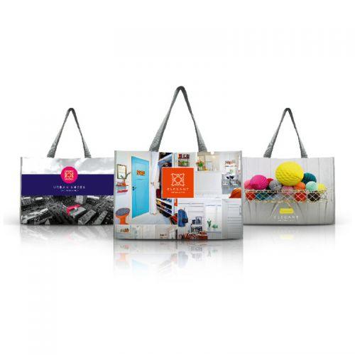 Sac de shopping 50L 100% personnalisable publicitaire Ac cRéations Strasbourg Alsace