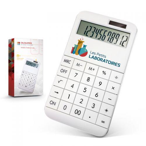 Calculatrice blanche publicitaire AC Créations Strasbourg Alsace