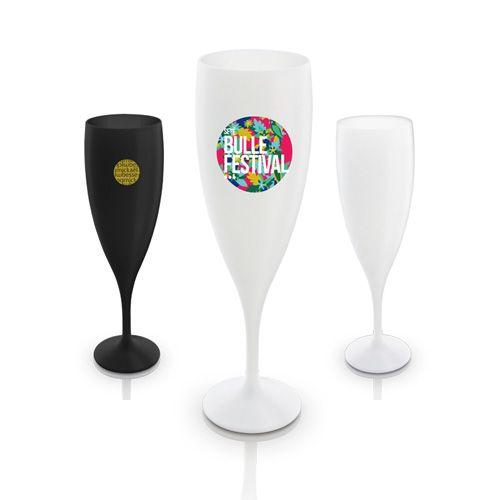 Flute a champagne avec un design particulier 14 cl publicitaire AC Créations Strasbourg Alsace