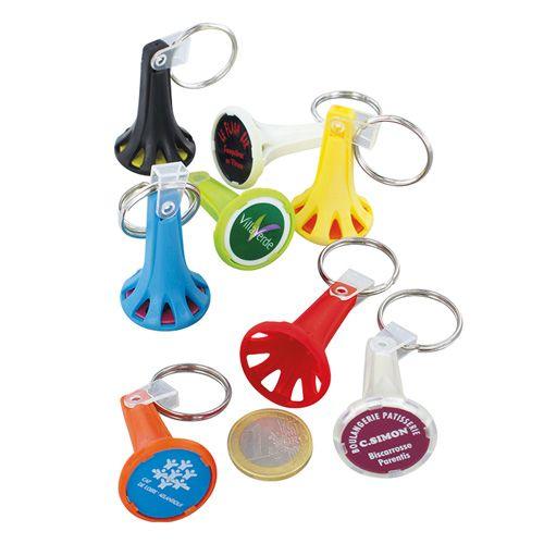 Porte clés avec un jeton avec un design particulier publicitaire Ac Créations Strasbourg Alsace